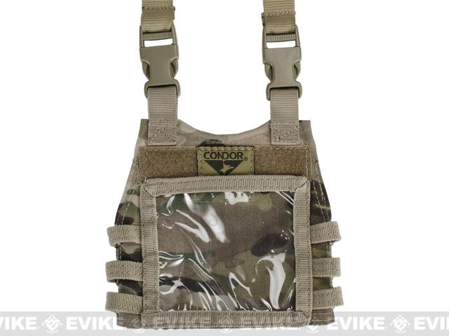 Condor Basic Mini Plate Carrier Badge Holder / ID Panel - Multicam