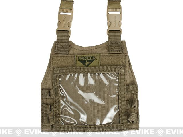 z Condor Basic Mini Plate Carrier Badge Holder / ID Panel - Tan