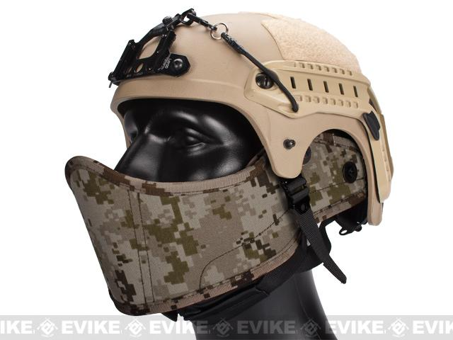 Avengers Helmet Face Armour HAF Mask for Airsoft - Digital Desert Marpat