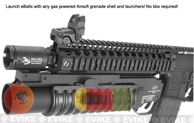 Evike.com eBalls for Airsoft 40mm Gas Powered Shell Grenade Launchers (Qty: 6)