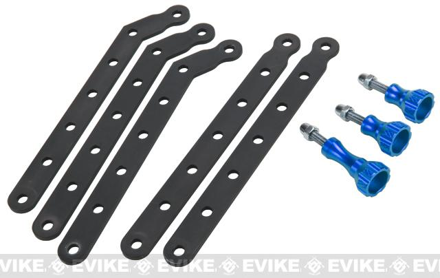 Matrix GoPro Offset Mounting Bracket Set - Blue