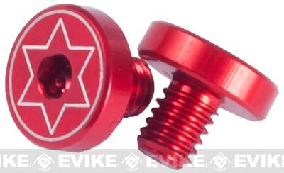 Airsoft IPSC Aluminum Grip Screw For Hi-CAPA Series Airsoft GBB - Red