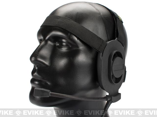 Matrix / Element Military Grade Tactical Communications Headset (Type A) (Black)