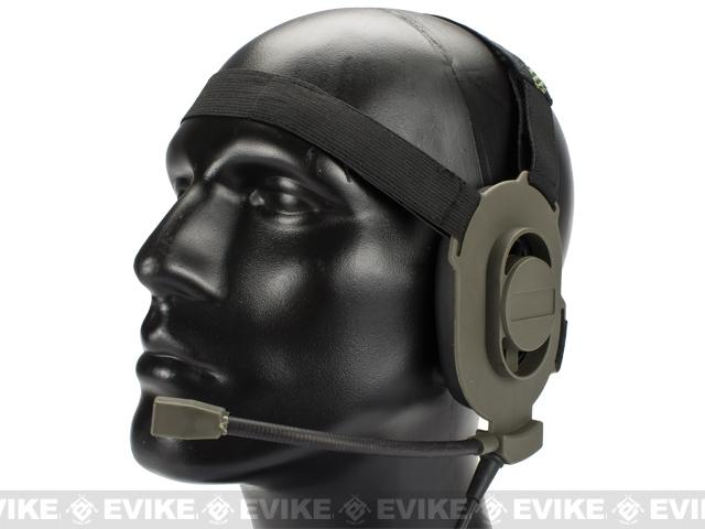 Matrix / Element Military Style Tactical Communications Headset Type-A - OD Green