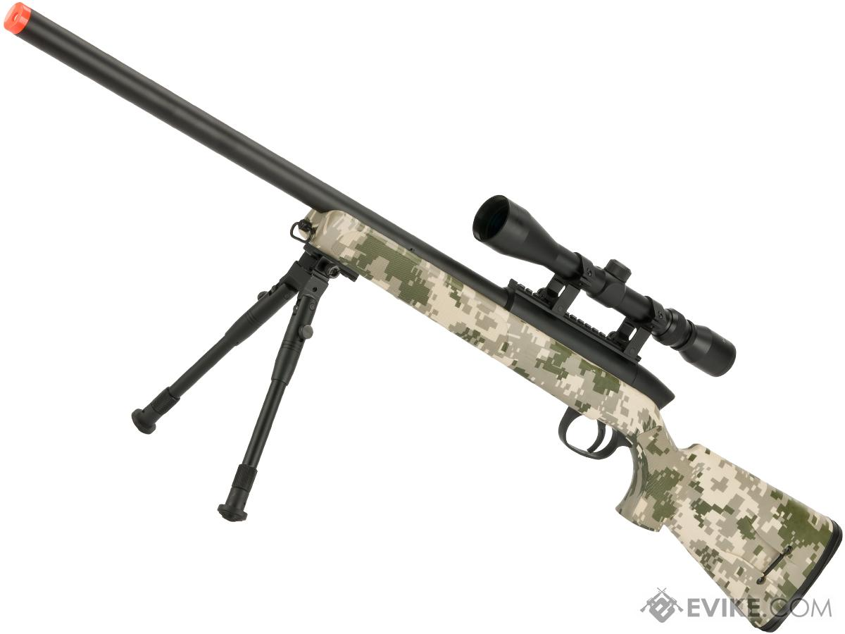 Gen 5 UTG APS2 Airsoft Master Sniper Rifle w/ Bipod - ACU (Package: Rifle & Bipod Only)