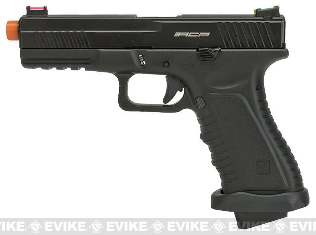 APS ACP601 Enhanced Match Model CO2 Powered Airsoft Blowback Pistol - Black