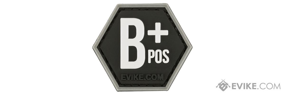 Operator Profile PVC Hex Patch  Blood Type Series (Type: B Positive)