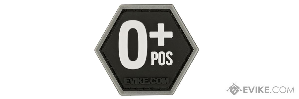 Operator Profile PVC Hex Patch  Blood Type Series (Type: O Positive)