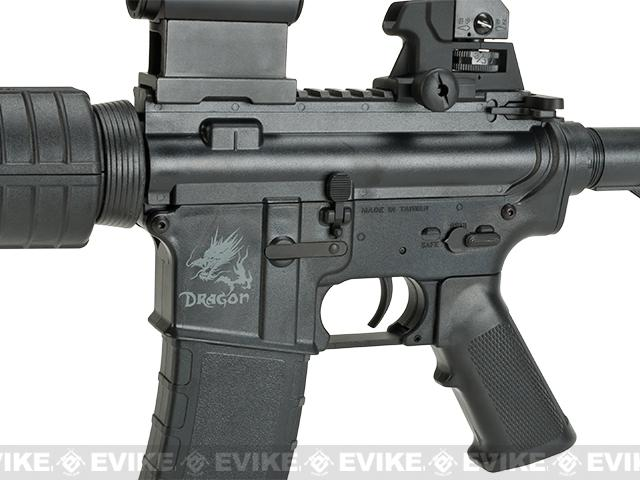SRC SR4 M4A1 CQB  Dragon Series Airsoft AEG Rifle - Black