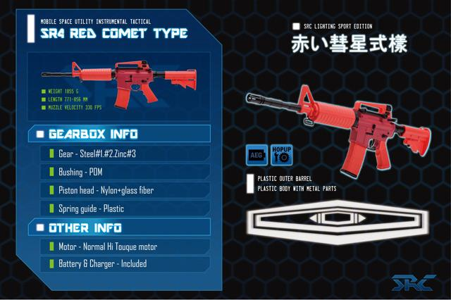 Gundam Inspired Custom Airsoft AEG Rifle by SRC - Red Comet
