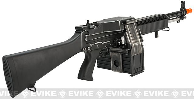 G&P Weathered Navy Mk23 Airsoft SAW Machine Gun AEG w/ Box Magazine (Package: Add Battery + Charger)