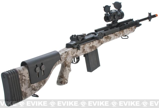 z G&P Full Metal M14 Socom-16 DMR Custom Airsoft AEG Sniper Rifle - Digital Desert