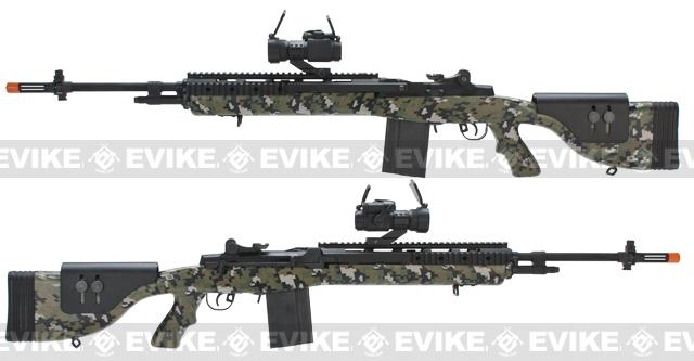 G&P M14 DMR Custom Airsoft AEG Sniper Rifle - Jungle Digital (Package: Add Battery + Charger)
