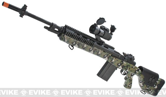G&P M14 DMR Custom Airsoft AEG Sniper Rifle - Jungle Digital (Package: Gun Only)