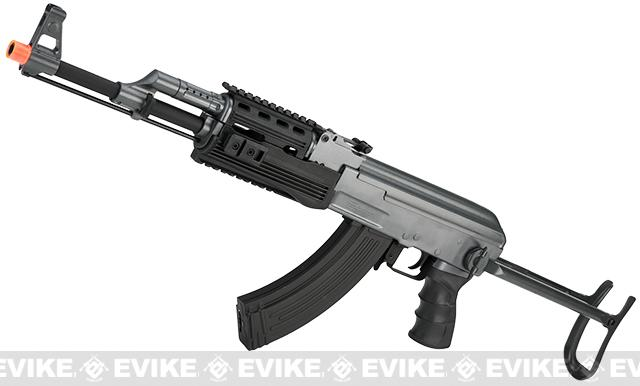 Full Size AK47-S RIS Airsoft AEG Rifle w/ Metal Gearbox & Metal Underfold Stock by JG / CYMA