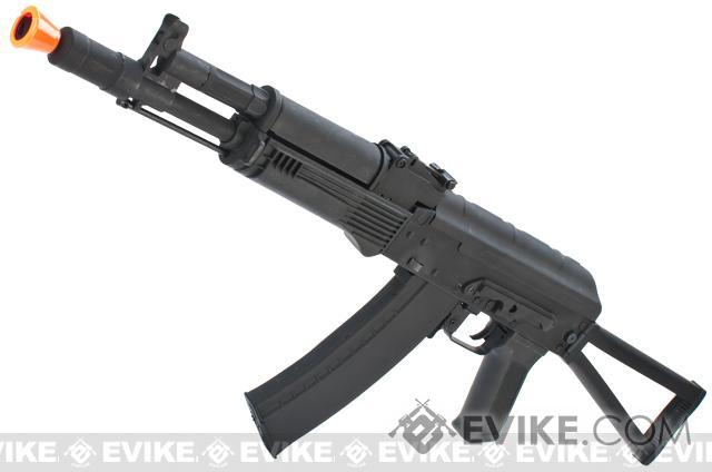 AK74 AK105 Full Metal Airsoft AEG Rifle w/ Steel Folding Stock & Lipo Ready Gearbox (Package: Gun Only)