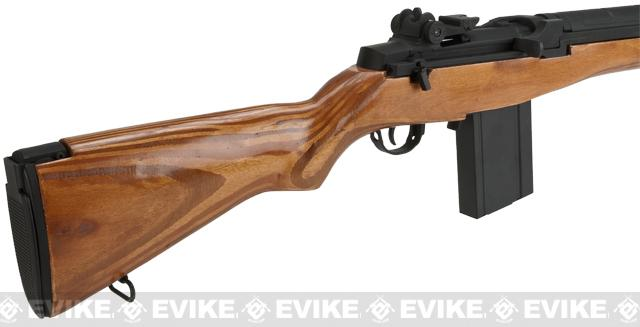 CYMA Full Size M14 Airsoft AEG Rifle - Real Wood (Package: Add Battery + Charger)