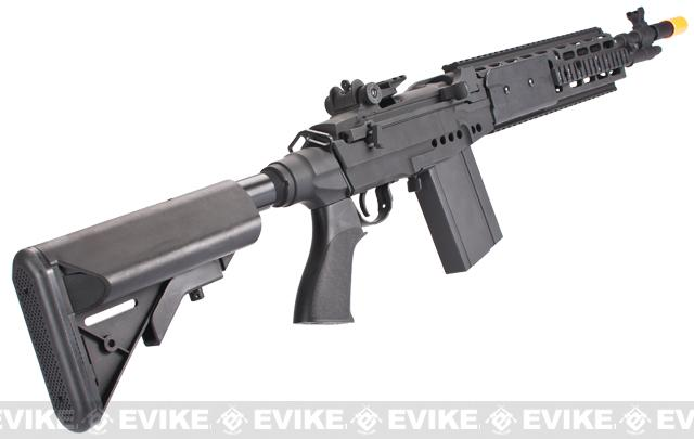 CYMA M14 RIS EBR (Evil Black Rifle) Custom Full Metal Airsoft AEG Sniper Rifle - Black (Package: Gun Only)