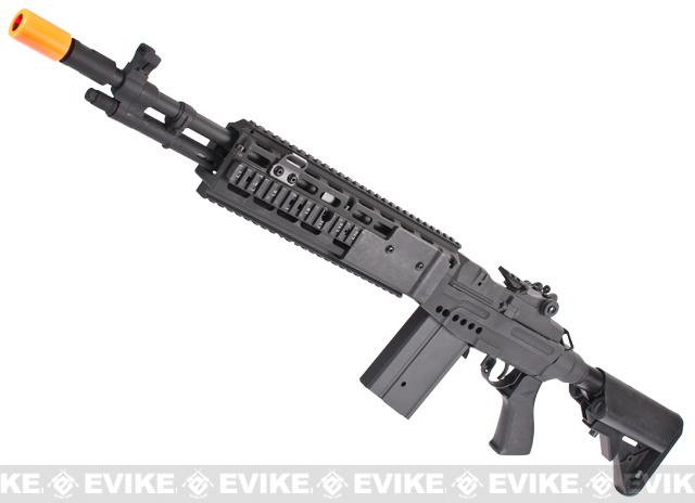 CYMA M14 RIS EBR (Evil Black Rifle) Custom Full Metal Airsoft AEG Sniper Rifle - Black