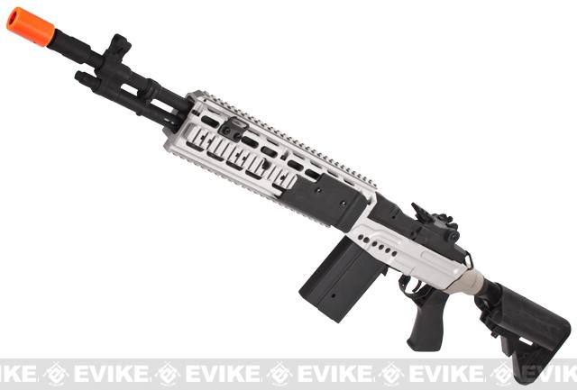 CYMA M14 RIS EBR (Evil Black Rifle) Custom Full Metal Airsoft AEG Sniper Rifle - Dual Tone
