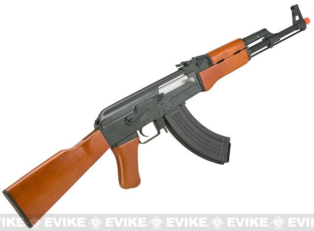 Pre-Order ETA March 2017 AK47 Advanced Full Metal Real Wood Airsoft AEG w/ Lipo Ready Gearbox by CYMA / Matrix (Package: Gun Only)
