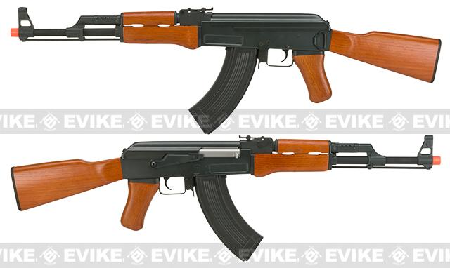 Pre-Order ETA October 2016 CYMA CM042 Full Metal AK47 Airsoft AEG with Real Wood Furniture - (Package: Gun Only)