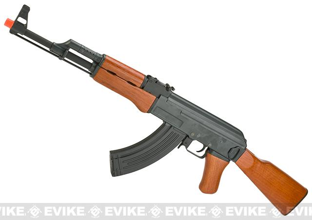 AK47 Advanced Full Metal Real Wood Airsoft AEG w/ Lipo Ready Gearbox by CYMA / Matrix (Package: Add Battery + Charger)