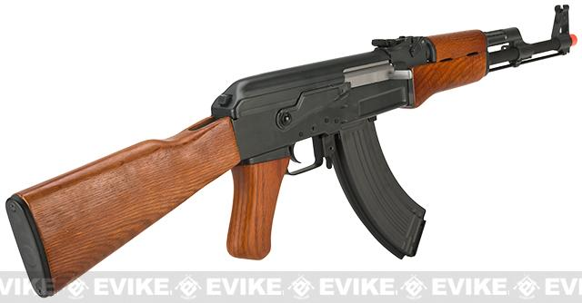 Matrix CYMA Custom AK47 Full Metal / Real Wood / Blowback Full Size Airsoft AEG - (Package: Add 9.6 Small Type Battery + Smart Charger)