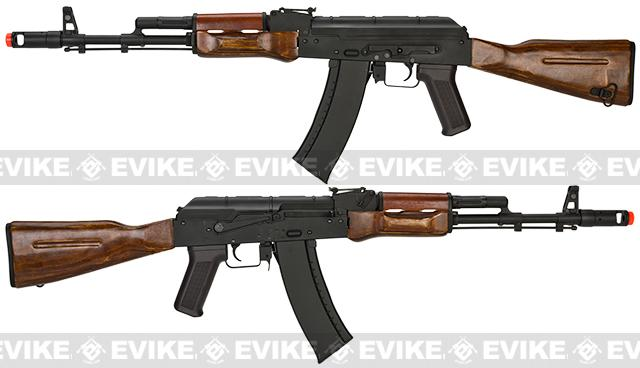 Pre-Order ETA February 2017 CYMA Custom Stamped Steel / Real Wood Full Size AK-74 Airsoft AEG - (Package: Gun Only)