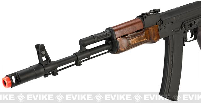 Pre-Order ETA October 2016 CYMA Custom Stamped Steel / Real Wood Full Size AK-74 Airsoft AEG - (Package: Gun Only)