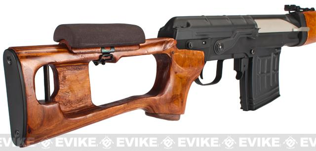 Matrix CYMA AK SVD Airsoft AEG Sniper Rifle by CYMA - Metal Receiver / Real Wood (Package: Add Battery + Charger)