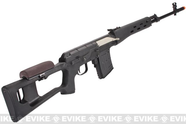 CYMA Full Metal AK Dragunov SVD Airsoft AEG Sniper Rifle - Black (Package: Gun Only)