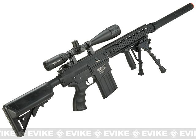 Echo1 ER25K Full Metal Airsoft AEG Rifle wit Adjustable Crane Stock