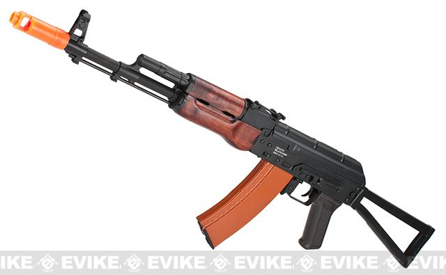 CYMA Advanced AK74 Wolverine Full Metal Real Wood Electric Blowback Airsoft AEG