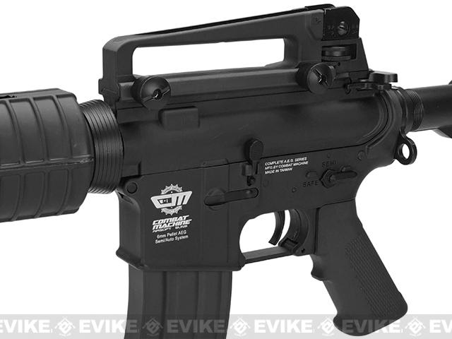 G&G M4 Carbine Combat Machine Airsoft AEG Rifle - Black (Package: Add 9.6 Small Type Battery + Smart Charger)