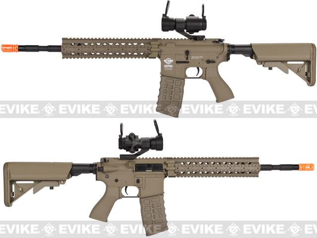 G&G CM16 R8-L Airsoft AEG Rifle Combo Package w/ Scope - Tan (Package: Add 9.6 Butterfly Battery + Smart Charger)