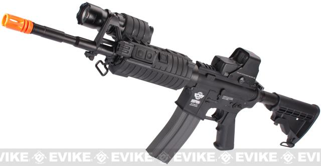 Evike Custom G&G SWAT500 M4 Airsoft AEG Rifle - Black