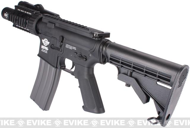 Evike Custom Class I G&G M4 Stubby Killer Airsoft AEG Rifle - Black (Package: Add 9.6 Butterfly Battery + Smart Charger)