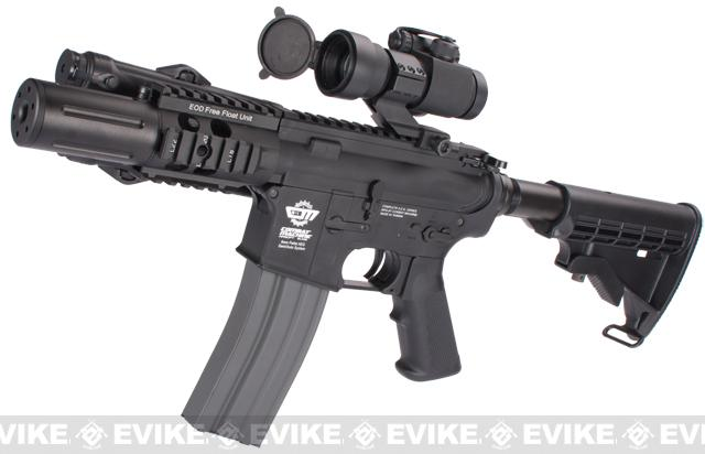 Evike Custom G&G M4 Fighting Cat Airsoft AEG Rifle - Black