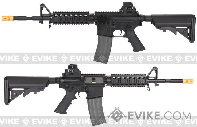 z G&G GR16 R4 Commando Full Metal Blowback Airsoft AEG Rifle - Black