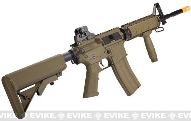 G&G Top Tech GR16 R4 Commando Full Metal Blowback Airsoft AEG Rifle - Tan (Package: Gun Only)