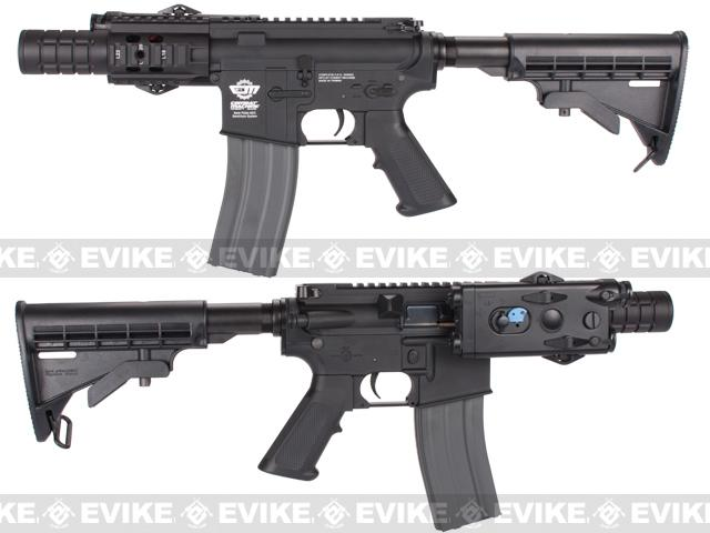 Evike Custom Class I G&G M4 Patriot Airsoft AEG Rifle - Black (Package: Add 9.6 Butterfly Battery + Smart Charger)