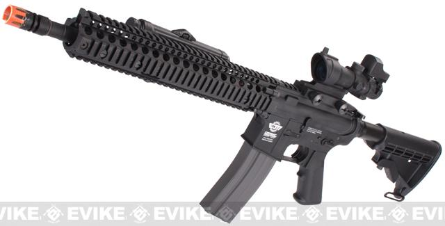 Evike Custom Class I G&G M4 Airsoft AEG Rifle - Daniel Defense 12 Black (Package: Gun Only)