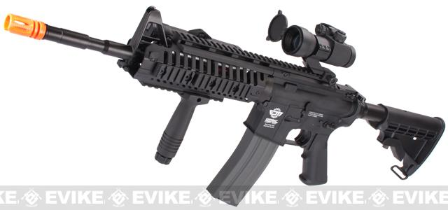 Evike Class I US Navy E.O.D. Custom G&G M4 Airsoft AEG Rifle - Black (Package: Add 9.6 Butterfly Battery + Smart Charger)
