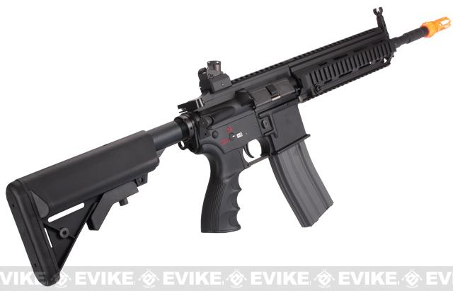 G&G Top Tech Full Metal Blowback TR4-18 Carbine Airsoft AEG Rifle - Black (Package: Add 9.6 Butterfly Battery + Smart Charger)
