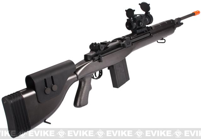 G&P M14 DMR Custom Airsoft AEG Sniper Rifle w/ Red Dot Scope - Gun Metal (Package: Gun Only)