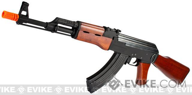 G&P Full Metal AK47 Airsoft AEG Rifle with Real Wood Furniture