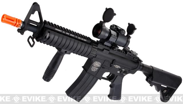 G&P M4 CQB-R Airsoft AEG Rifle (Package: Black / Add Battery + Charger)
