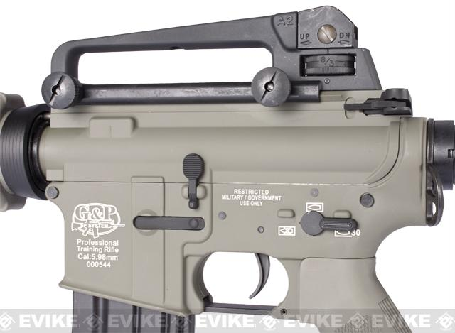 G&P M4 Carbine Full Metal Airsoft AEG Rifle w/ Crane Stock - (Foliage Green)