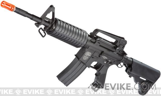 G&P M4 Carbine Full Metal Airsoft AEG Rifle w/ Crane Stock - (Black)